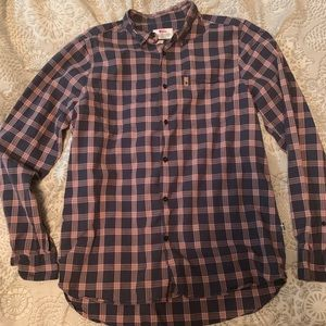 Men's size L fjallraven cotton button down.
